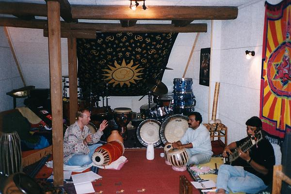 Sample with Gajanan & Manab in my rehearsal room in Germany